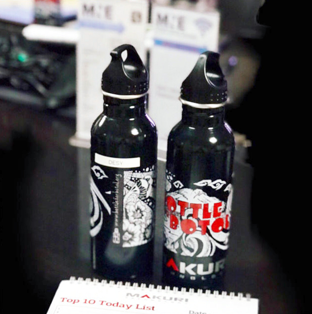MNE adopt reuseable Makuri water bottle